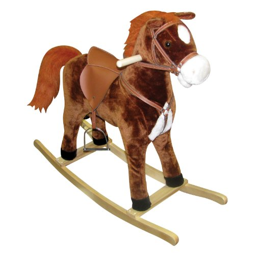 Charm Company Hercules Horse Rocker with Cowboy Sound and Moving Mouth and Tail, Large - 1