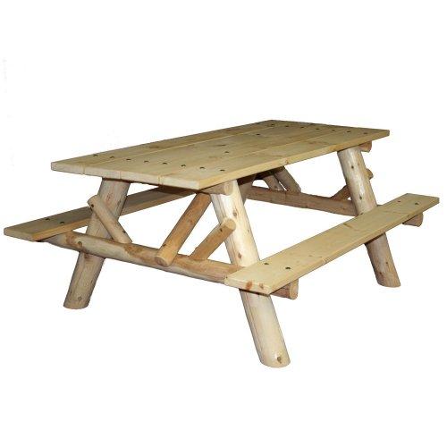 9 Best Price Lakeland Mills Cfu232 Cedar Log 6 Foot Picnic Table Best Buy Lakeland Mills