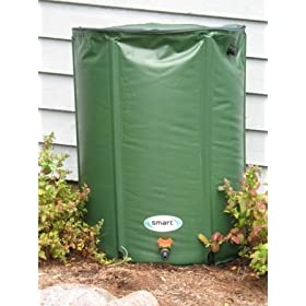Smart Solar RB6000 Rain Barrel, 60 Gallon Capacity, Green
