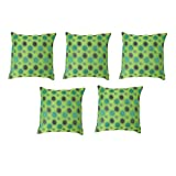 "HOMEC Trendy Jacquard Cushion Cover Set Of 5 In - 16 X 16"" - B00X6AWJZK"