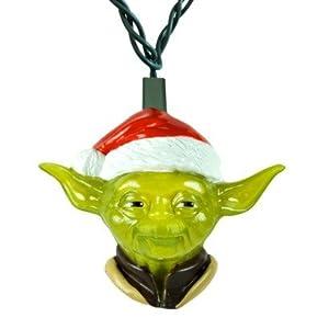 Star Wars Yoda Santa Clause Hat String Decorative Lights