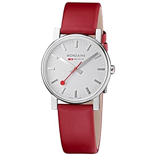 Mondaine Women's Watch red/silver A658.30300.18SBC