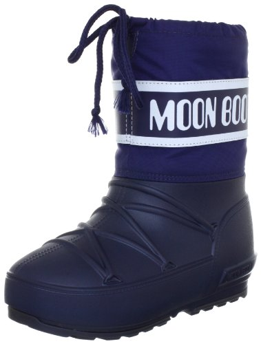 Tecnica Moon Boot POD, 34020100003, Unisex-Kinder-Winterstiefe, Blau (Blue 3), Gr. 27/28