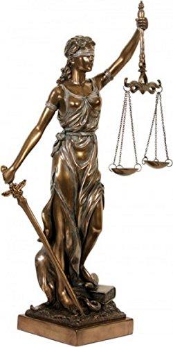 Dekofigur Justitia Göttin der Gerechtigkeit Skulptur bronziert thumbnail