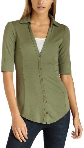 Three Dots Women's Cotton Modal Button Down Shirt