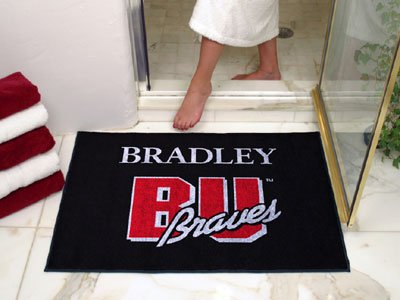 NCAA Bradley Braves Chromo Jet Printed Rectangular Area Rug Floor Mat 45