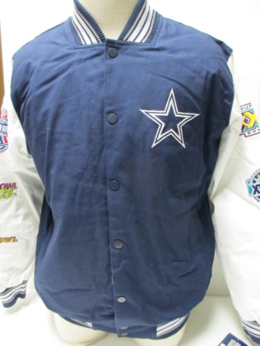 Dallas Cowboys 2013 Commemerative Canvas Jacket (Blue/White, XL) at Amazon.com