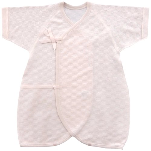 Baby Story jacquard pile combination underwear 50-60cm Pink J95048 made in Japan - 1