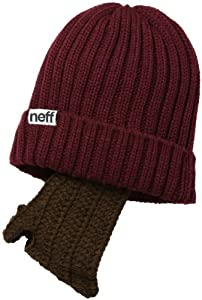 neff Men's Manly Beanie, Maroon, One Size