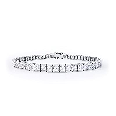 Princess Cut Diamond White Gold Tennis Bracelet