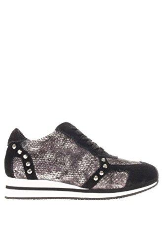 S66069P0261 04013.Sneaker running genziana.Nero/argento.38