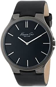 Kenneth Cole New York Men's KC1885 Stainless Steel Watch with Black Leather Band