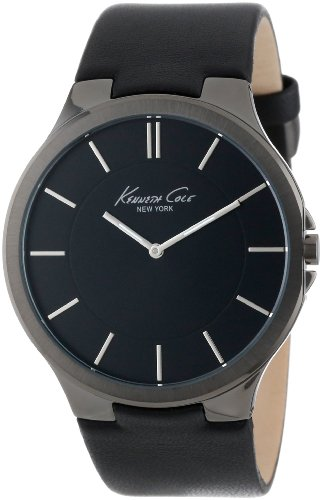 Kenneth Cole New York Men's KC1885 Stainless Steel Watch with Black Leather Band image