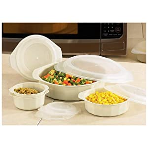 Lacuisine 18 piece microwave cookware set for Art cuisine cookware reviews