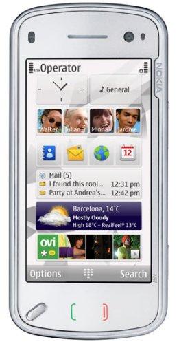 Nokia N97 white (QWERTZ-Tastatur, GPS, W-Lan, Nokia Maps, Kamera mit 5 MP) UMTS Handy ohne Vertrag, ohne Branding, kein Simlock