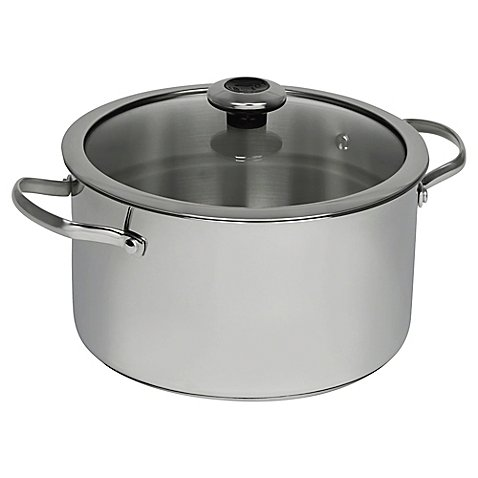 Revere Copper Confidence Core 6.5 qt. Stainless Steel Covered Stock Pot l Suitable for Use on All Stove Types (Dual Diamond Pot compare prices)