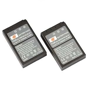 DSTE® 2x BLS-1 de remplacement Li-ion Batterie pour Olympus PS-BLS1, E-420, E-450, E-600, E-620, PEN E-P1, E-P2, E-P3, E-PL1, E-PL3, E-PM1