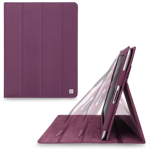 CaseCrown Omni Ridge Flip Case (Purple) for iPad 4th Generation with Retina Display, iPad 3 & iPad 2 (Built-in magnet for sleep / wake feature)
