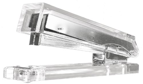 Kantek  Acrylic Stapler, Fits full strip of Standard Staples, 2 1/2 x 6 x 1 1/4 Inches , Clear (AD80) Picture