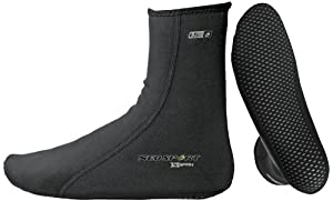 NeoSport Wetsuits XSPAN 5mm Socks,Black,Medium