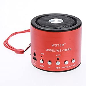 magic.Mini Portable Speaker (Support TF Card and Music Player) , Red