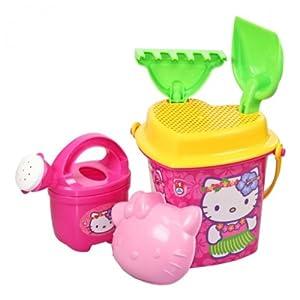 hello kitty sandkasten spielzeug set pink 6tlg sandeimergarnitur strand spielzeug kinder. Black Bedroom Furniture Sets. Home Design Ideas