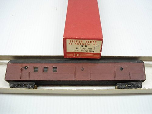 60' RPO/Baggage w/No Interior Wood/Metal HO Scale by Silver Sides JC Models