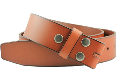 "Deal Fashionista Vintage Full Grain 100% Leather Distressed Style Collection Snap on Belt Strap 1 1/2"" Wide"