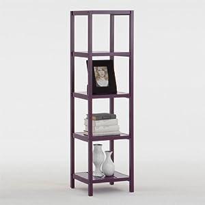 LATTICE Violet 5-Tiered Shelf Display Unit / Hall Table