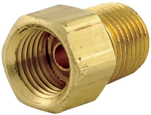 "Allstar ALL50121 1/8"" NPT Male to 1/4"" Brass Straight Inverted Flare Female Brake Line Adapter Fitting, (Pack of 4)"