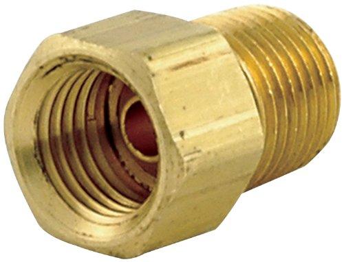 "Allstar ALL50121 1/8"" NPT Male to 1/4"" Brass Straight Inverted Flare Female Brake Line Adapter Fitting, (Pack of 4)"