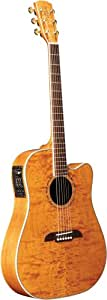 Alvarez FD60AMB Thin Cutaway Dreadnought Acoustic Guitar, Top Figured, Back-and-Side Quilted, Maple