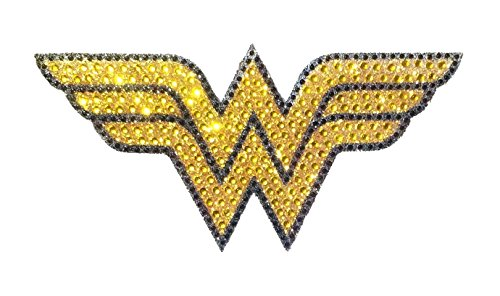 DC Comics CH WW LOGO001 Crystal Studded Wonder Woman Bling Logo Car Window Sticker Decal (Window Decals For Women compare prices)