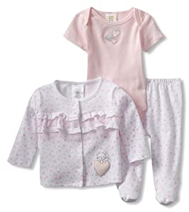 ABSORBA Baby-Girls born Print Bodysuit And Footed Pan Set With Knit Top from ABSORBA