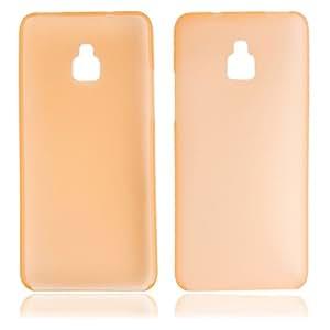 0.3 Super Slim Plastic Protective Case for HTC mini/M4 Orange