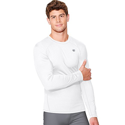 Champion Vapor Mens Long Sleeve T-Shirt_White_XL