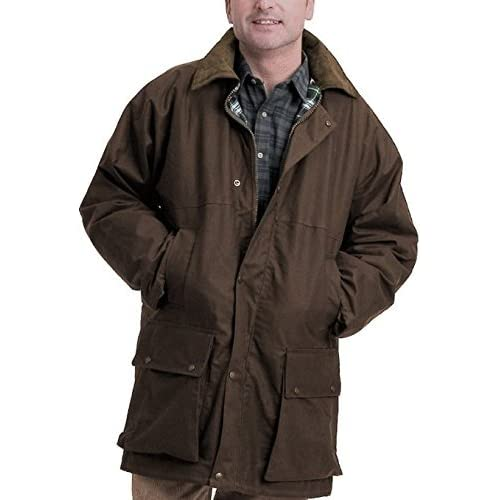 <strong>Mens British Quilted Wax Rain <strong>Jacket S-5XL