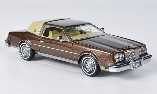 buick-riviera-met-braun-beige-1982-modellauto-fertigmodell-neo-143