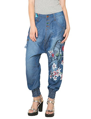 Desigual Edith-Jeans Donna    Blau (DENIM MEDIUM WASH 5053) W29