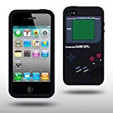 "Iprotect ORIGINAL APPLE IPHONE 4 / 4S GAMEBOY RETRO SILIKONH�LLE MIT KN�PFEN IN SCHWARZ // CASE TASCHE H�LLEvon ""iprotect"""
