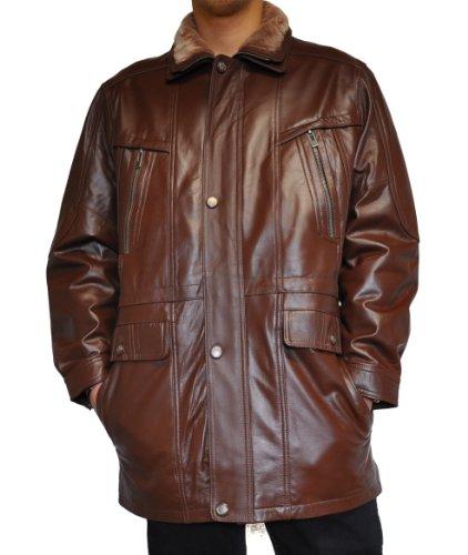 Men's leather jacket in Brown, Art. Ewald 50 (40 Regular)