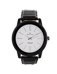 BY Bribe Yourself White Round Dial Analogue Watch For Men