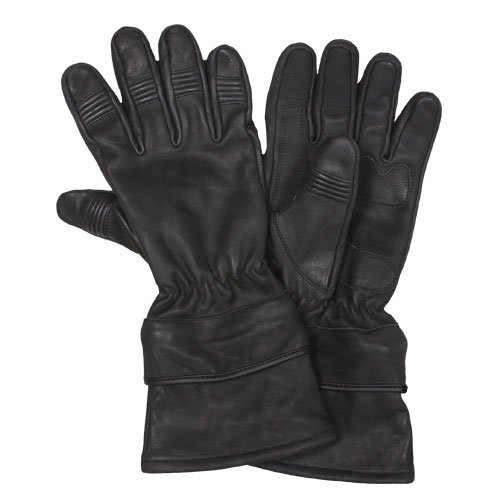 Fox Outdoor Products All Leather Motorcycle Gloves, Black, X-Large