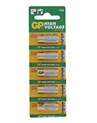 GP High Voltage 23AE V23GA MN21 Non-rechargeable Battery (Pack Of Five)