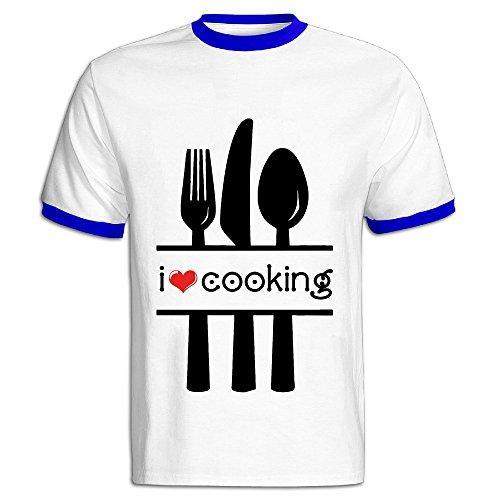 Love Cooking Men Cotton Short Sleeve T Shirt