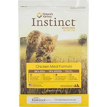 Instinct Grain-Free Chicken Meal Formula for Cats, 12.1-Pound Package