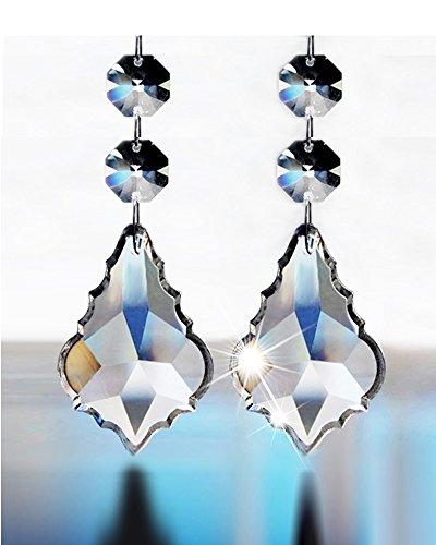 Aiskaer 174 15pcs Shining Beautiful Clear Crystal Glass
