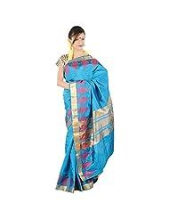 Kashish Peackock Blue Silk Saree For Women
