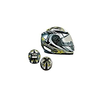 CASQUE INTEGRAL CHOK RAPTOR STAR ONE ---JAUNE/GRIS VERNI T59-60 L