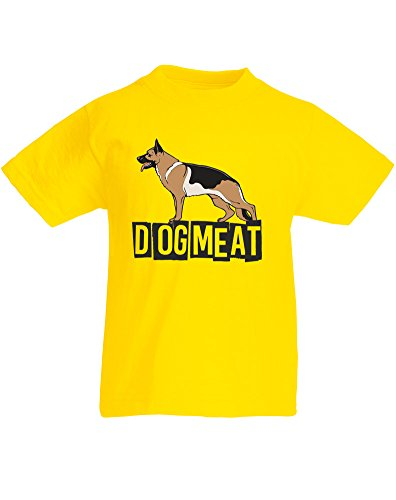 Dog Meat, Kids Printed T-Shirt - Yellow/Black/Transfer 3-4 Years (Jack Russle compare prices)